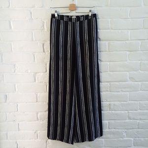 Merona Black Striped Wide Leg Palazzo Pants Sz XS